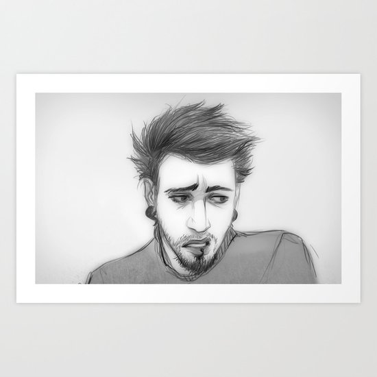 randomsketch Art Print