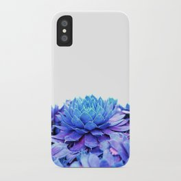 Ethereal Blue Hens and Chicks iPhone Case