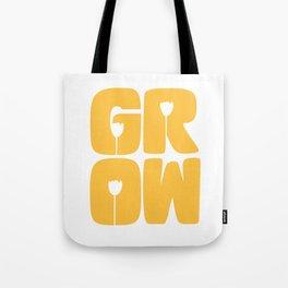 Grow Typography Tote Bag