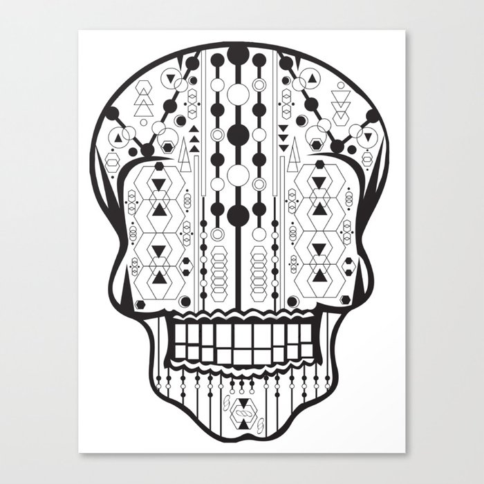 B/W Skull 2 Canvas Print