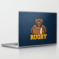 rugby Laptop & iPad Skins featuring RUGBY by solomnikov