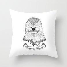Mustache Wookiee Throw Pillow