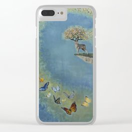 Kaleidoscope of Butterflies Clear iPhone Case