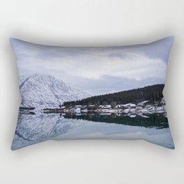 Reflective Contrast Rectangular Pillow