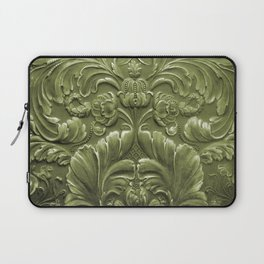 Celery Tooled Leather Laptop Sleeve