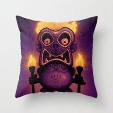 Tiki Munkee Throw Pillow