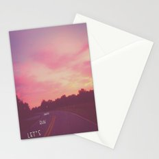 run away road Stationery Cards