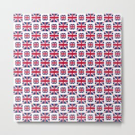 flag of uk - with square Metal Print