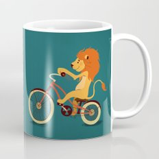 Lion on the bike Mug