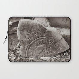 Mary Matilda Tombstone (Wife of Blackburn) NC Graveyard Laptop Sleeve