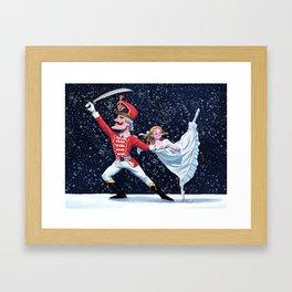 The Nutcracker with Clara Framed Art Print