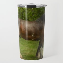 Clyde the Clydesdale Travel Mug