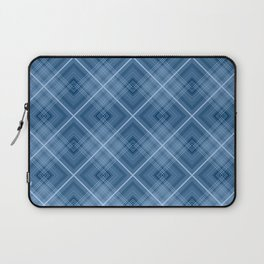 Charming blue cage plaid checkered Laptop Sleeve