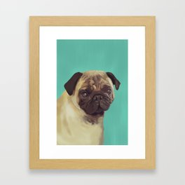 PUG! Framed Art Print