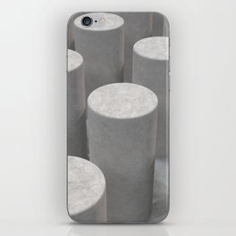 Concrete with cylinders iPhone Skin