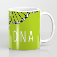 dna Mugs featuring dna by muffa