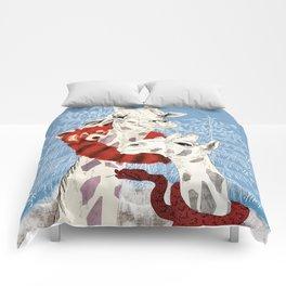 Winter Giraffes  Comforters