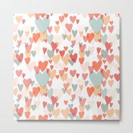 different hearts, pastel colors  Metal Print