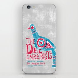 The Decemberists Gigposter iPhone Skin
