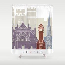 Exeter skyline poster Shower Curtain
