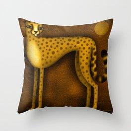 NIGHT CHEETAH Throw Pillow