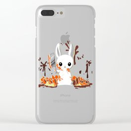 PUMPKIN SLAUGHTER Clear iPhone Case