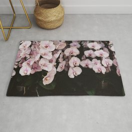 Orchids in Hong Kong Rug