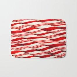 Candy Cane Pattern Bath Mat