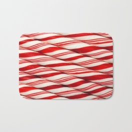 Candy Cane Pattern Bath Mat