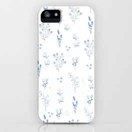 Small blue flowers iPhone Case