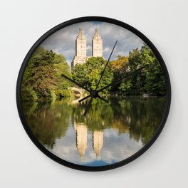San Remo Reflections - Central Park, NYC Wall Clock