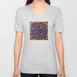 """Liberty"" Mosaic Art Unisex V-Neck"