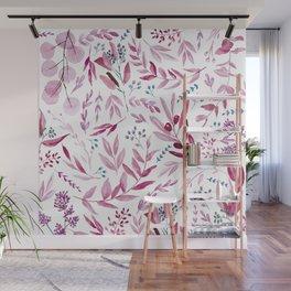 Eucalyptus Pink Wall Mural