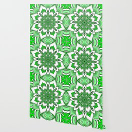 Mandala Flower : Green Wallpaper