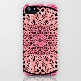 Boho Coral Mandala Lace iPhone Case