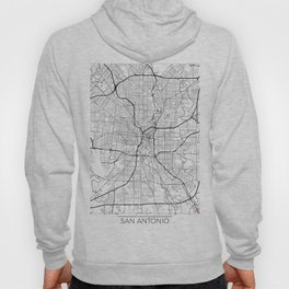 San Antonio Map White Hoody
