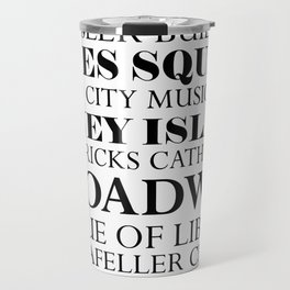 New York City - White Travel Mug
