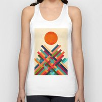 sun Tank Tops featuring Sun Shrine by Picomodi