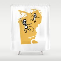 arctic monkeys Shower Curtains featuring Monkeys by Josè Sala