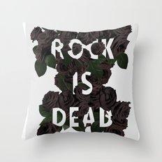 Rock is Dead Throw Pillow