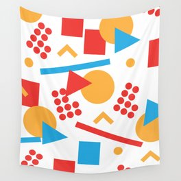 Nostalgic 80s pattern. Wall Tapestry