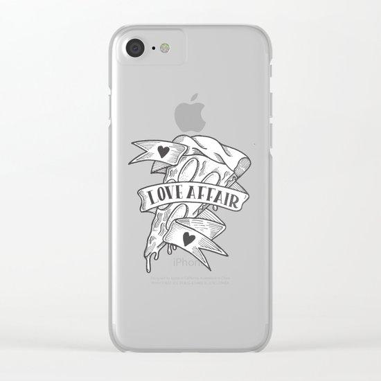PIZZA LOVE AFFAIR Clear iPhone Case