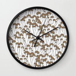 Beech Mushrooms Wall Clock