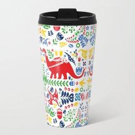 Swedish Folk Art Dinosaurs Travel Mug
