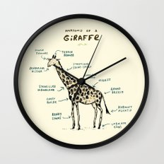Anatomy of a Giraffe Wall Clock