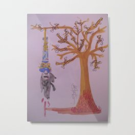 I Was Hung From A Tree Made Of Bones Of The Weak. The Branches The Bones Of The Liars The Thieves. Metal Print