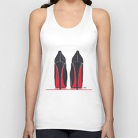 heels Tank Tops featuring Mighty Heels by anna hammer