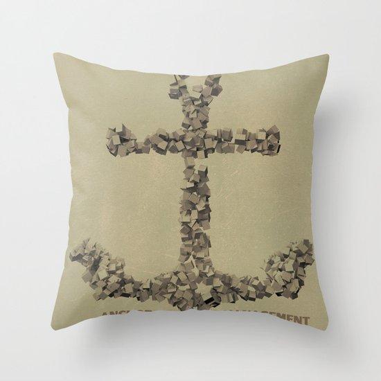 Anchor Management Throw Pillow