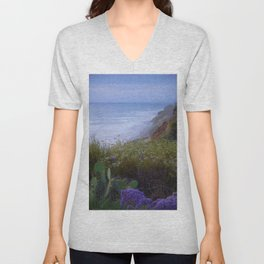 Del Mar Misty Last Light by Reay of Light Unisex V-Neck
