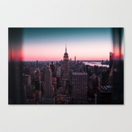 New York City Skyline Empire State Building and World trade Center Canvas Print